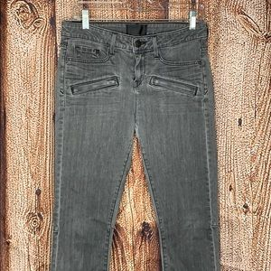Vince Gray Skinny Jeans 28 Womens